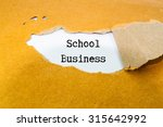 school business text on brown... | Shutterstock . vector #315642992