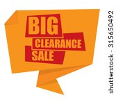 yellow big clearance sale paper ... | Shutterstock . vector #315650492