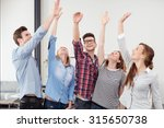 group of five happy young... | Shutterstock . vector #315650738