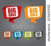 vector   big sale paper origami ... | Shutterstock .eps vector #315651932