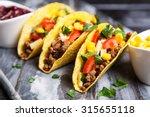 mexican food   delicious tacos... | Shutterstock . vector #315655118
