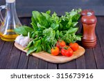 tomato with basil | Shutterstock . vector #315673916