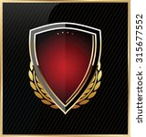 shield with a golden frame | Shutterstock .eps vector #315677552