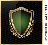 shield with a golden frame | Shutterstock .eps vector #315677555