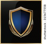 shield with a golden frame | Shutterstock .eps vector #315677558