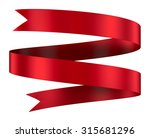 decorative red ribbon banner... | Shutterstock . vector #315681296