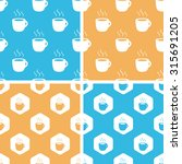 hot drink pattern set  simple...