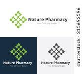 nature pharmacy vector logo... | Shutterstock .eps vector #315693596