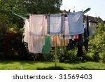 clothes horse | Shutterstock . vector #31569403
