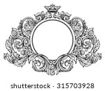 hand drawing vintage baroque... | Shutterstock .eps vector #315703928
