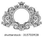 hand drawing vintage baroque... | Shutterstock .eps vector #315703928