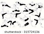 set of yoga class | Shutterstock .eps vector #315724136