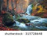 Beautiful Waterfall In Autumn...