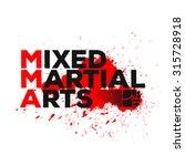 mixed martial arts logo  emblem ... | Shutterstock .eps vector #315728918