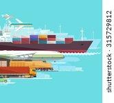 global transportation. flat... | Shutterstock .eps vector #315729812