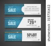 denim texture  jeans banner ... | Shutterstock .eps vector #315731612