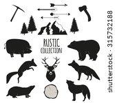 hand drawn wilderness  animals...   Shutterstock .eps vector #315732188