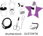 objects used in the house. | Shutterstock .eps vector #31573978