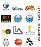 motor racing icons | Shutterstock .eps vector #31575154