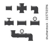 pipe fittings vector icons set. ...   Shutterstock .eps vector #315753596
