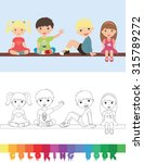 coloring book school topic  ... | Shutterstock .eps vector #315789272