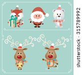 set of cute christmas character.... | Shutterstock .eps vector #315789992