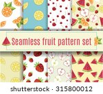vector seamless fruit pattern... | Shutterstock .eps vector #315800012