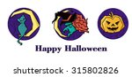 halloween  witch  icon design ... | Shutterstock .eps vector #315802826