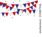 party background with flags... | Shutterstock .eps vector #315807536