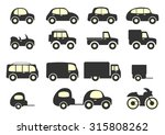 set of vector cars in two... | Shutterstock .eps vector #315808262
