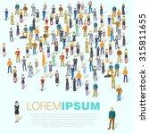 human infographics.vector... | Shutterstock .eps vector #315811655