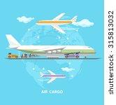 air transportation. flat design. | Shutterstock .eps vector #315813032