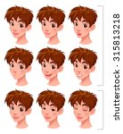 boy with lip sync and blinking... | Shutterstock .eps vector #315813218