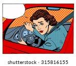 Female Driver Offending...