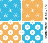 snow pattern set  simple and...