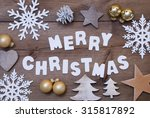 white letters with word merry... | Shutterstock . vector #315817892