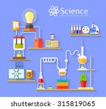 chemical laboratory workspace... | Shutterstock .eps vector #315819065