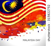 illustration of malaysia flag... | Shutterstock .eps vector #315822752
