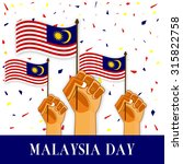 illustration of malaysia flag... | Shutterstock .eps vector #315822758