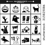 halloween icon collection...   Shutterstock .eps vector #315825086