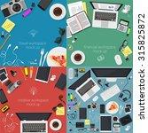 office workspase mock ups...   Shutterstock .eps vector #315825872