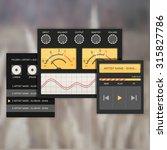 user interface audio template ...   Shutterstock .eps vector #315827786