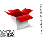 White And Red Open Box 3d ...
