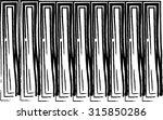 vector illustration of brushes... | Shutterstock .eps vector #315850286