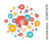 touch screen finger   creative... | Shutterstock .eps vector #315857678