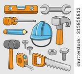 set of mechanic tools | Shutterstock .eps vector #315858812