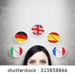 a concept of foreign language... | Shutterstock . vector #315858866