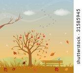 Vector Illustration Of Fall...