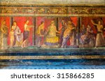 Painted Wall  In Pompeii City ...