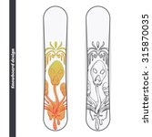 design snowboard with a color...   Shutterstock .eps vector #315870035